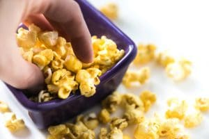 Easy Microwave Caramel Corn that cooks in 5 minutes!