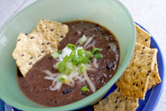 Smokey Black Bean Soup | heatherlikesfood.com