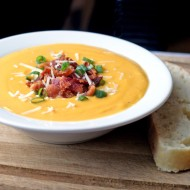Roasted Butternut Squash Soup with Bacon