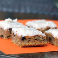 Carrot and Zucchini Squares with Coconut Cream Cheese Frosting