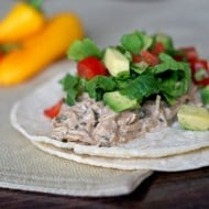 Slow-Cooker Cilantro Ranch Chicken Tacos