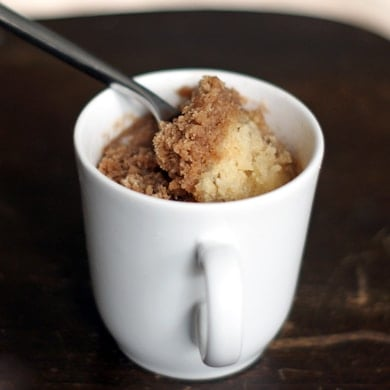 {2 minute} Coffee Cake in a Mug