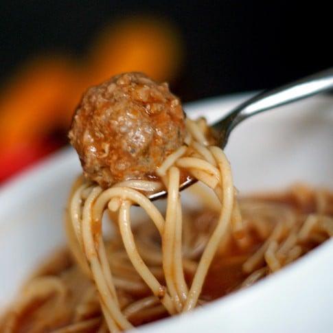 Spaghetti and Meatball Soup | heatherlikesfood.com