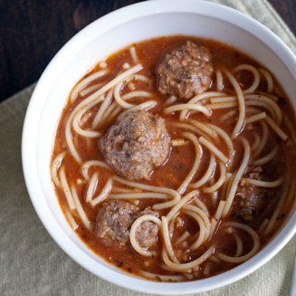 Spaghetti and Meatball Soup | Heather Likes Food