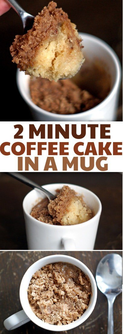 This recipe is perfect for when you get a sweets craving but don't want to spend the day baking! One of the best mug cakes I've tried-- fluffy and moist and totally not gummy. via @hlikesfood