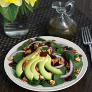 Spring Avocado Salad with Sweet White Balsamic Vinaigrette