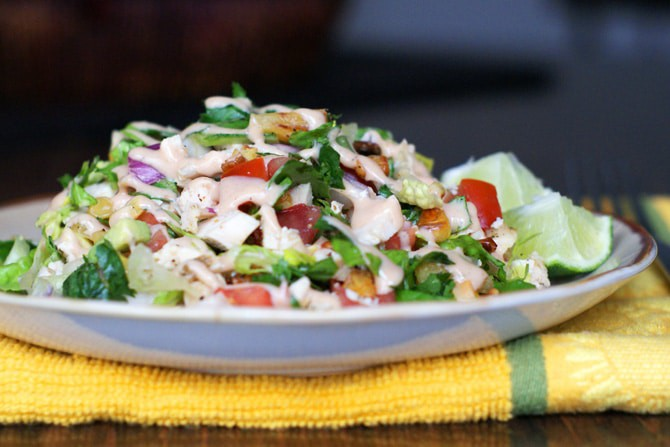 BBQ Chicken Chopped Salad