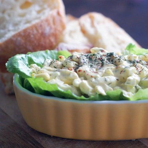 Simple Easy Egg Salad | heatherlikesfood.com