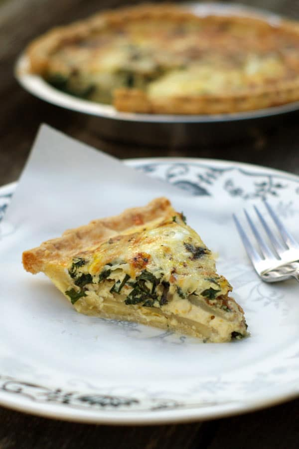 Potato Bacon and Kale Quiche