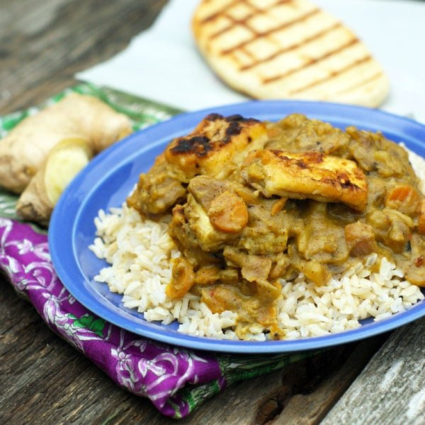 Coconut Curry with Fried Tofu