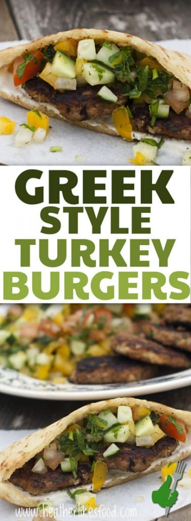 Greek Style Turkey Burgers