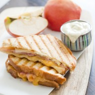 Cheesy Apple Panini w/ Maple Dijon Sauce