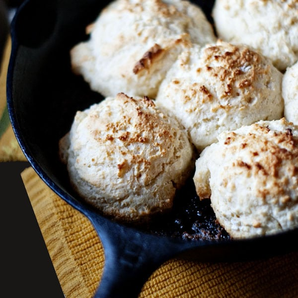7-UP Skillet Biscuits in cast iron pan