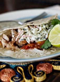 Broiled Fish Tacos with Tangy Slaw
