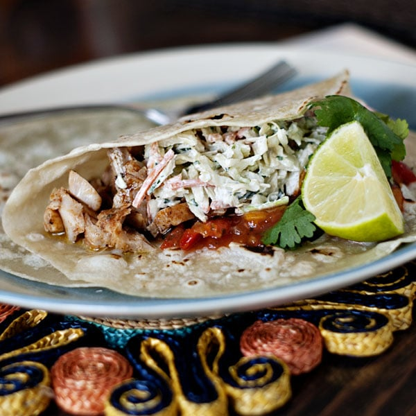 Broiled Fish Tacos w/ Tangy Slaw