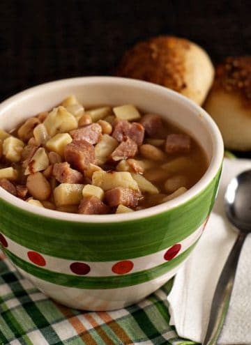 Smoky Ham, Bean, Sweet Potato Soup