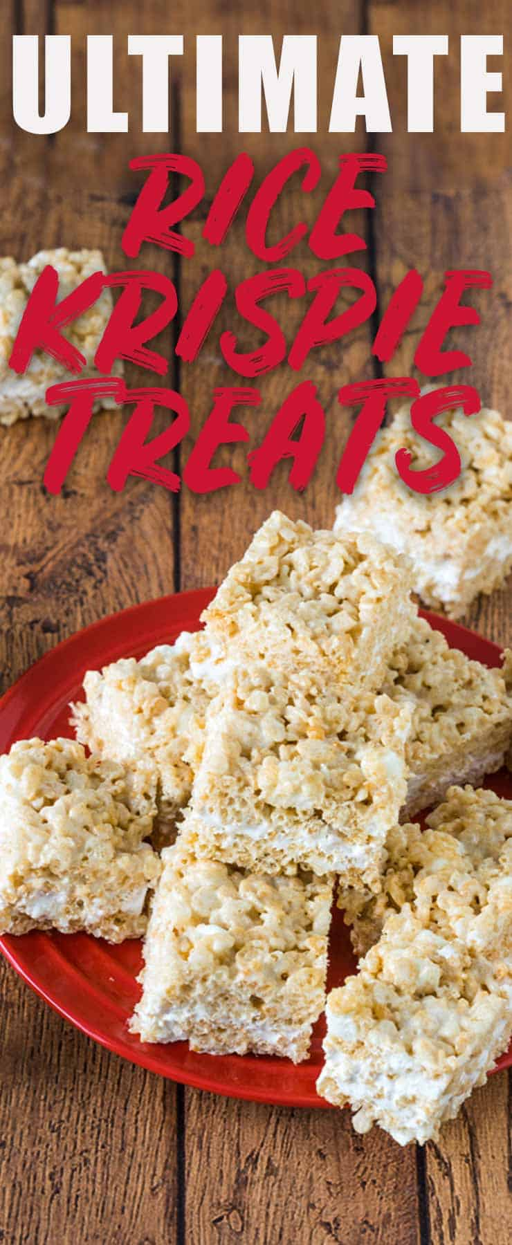 These Ultimate Rice Crispy Treats are perfectly soft and chewy with an irresistible layer of marshmallow cream that makes them far from ordinary. #ricecrispytreats #marshmallow #easydessert #nobake #marshmallowcream