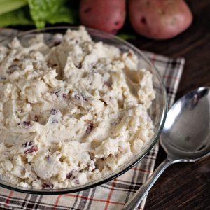 Roasted Garlic Smashed Potatoes | heatherlikesfood.com