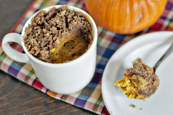 Pumpkin Coffee Cake In A Mug