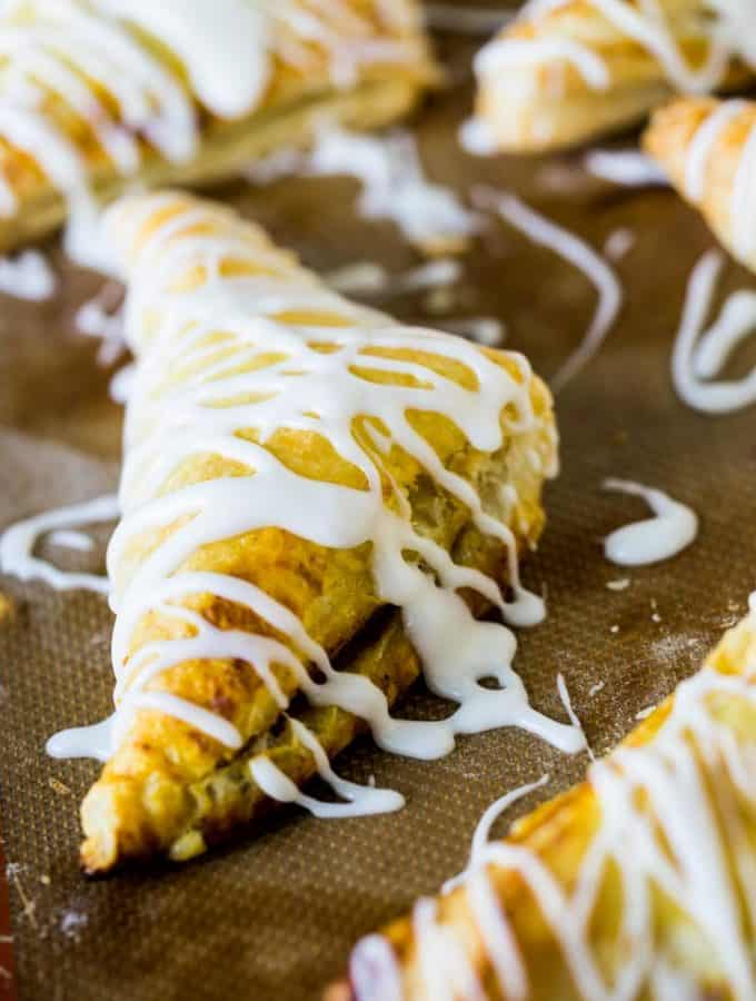 Pumpkin Turnovers-- a perfectly portable Thanksgiving Treat