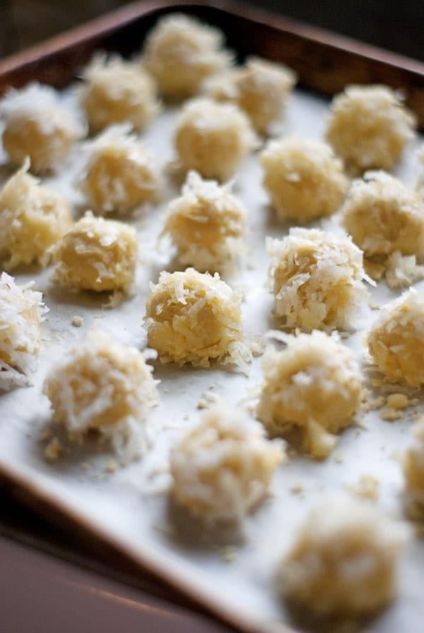 Coconut Caramel Blossom Cookies