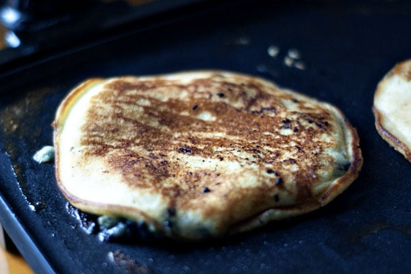 Cornmeal Blueberry Pancakes | Heather Likes Food
