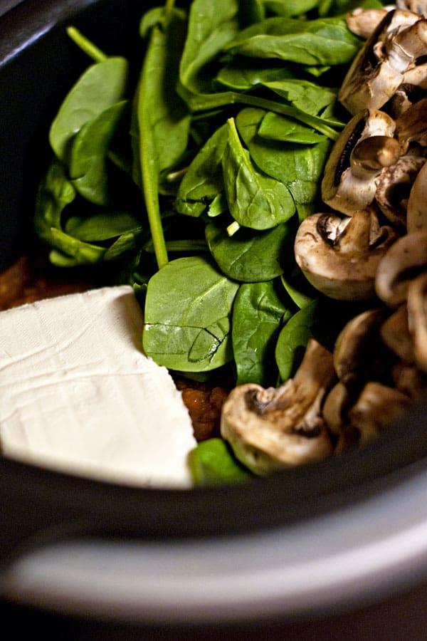 Creamy Slow Cooker Tortellini Soup