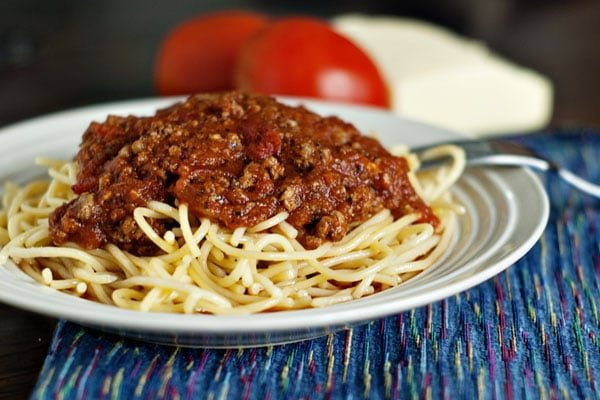 Rich and Hearty Homemade Spaghetti Sauce | Heather Likes Food