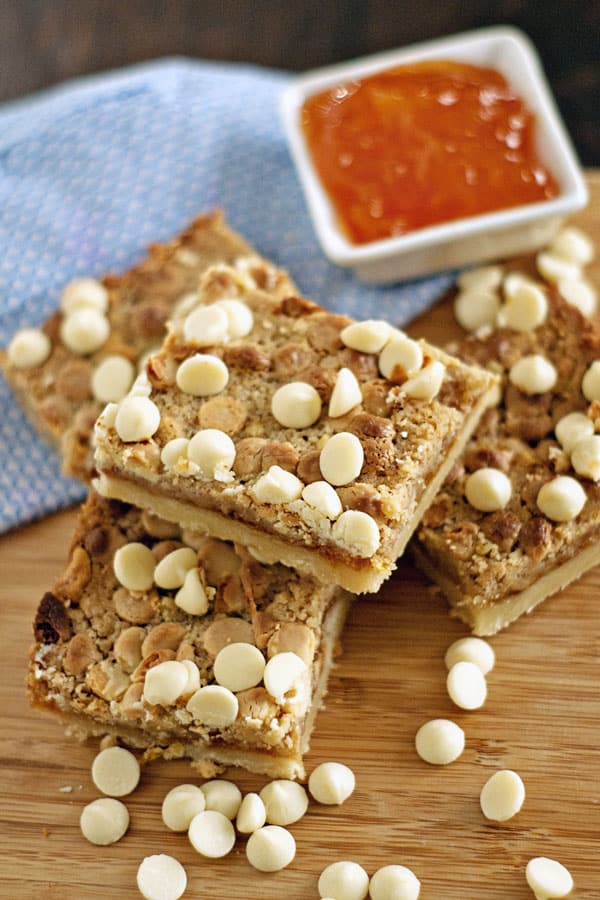 White Chocolate Apricot Pineapple Cookie Bars