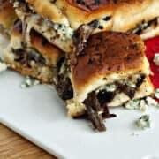 Beef and Blue Sliders | heatherlikesfood.com