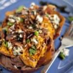 Balsamic Glazed Loaded Sweet Potatoes