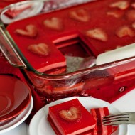 Layered Jello Squares, Valentine's Day Style