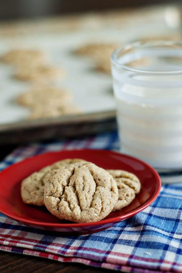 Soft and Chewy Almond Butter Cookies