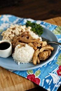 Hawaiian Style Shoyu Chicken
