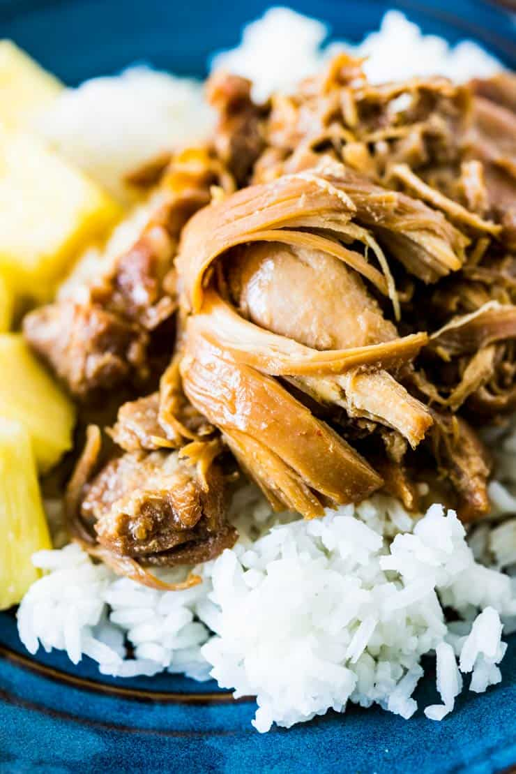 Hawaiian Shoyu Chicken-- so flavorful you'll forget how easy it is to make! Filled with flavors of ginger, garlic and just a touch of red pepper.