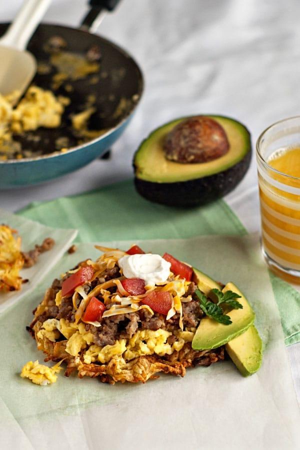 Hashbrown Breakfast Tostadas | heatherlikesfood.com