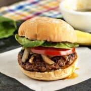 Spiced Apple Pork Burgers | heatherlikesfood.com