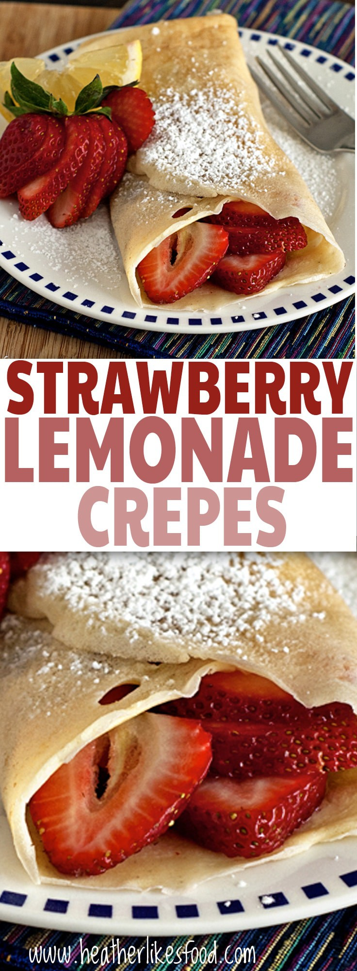 Strawberry Lemonade Crepes