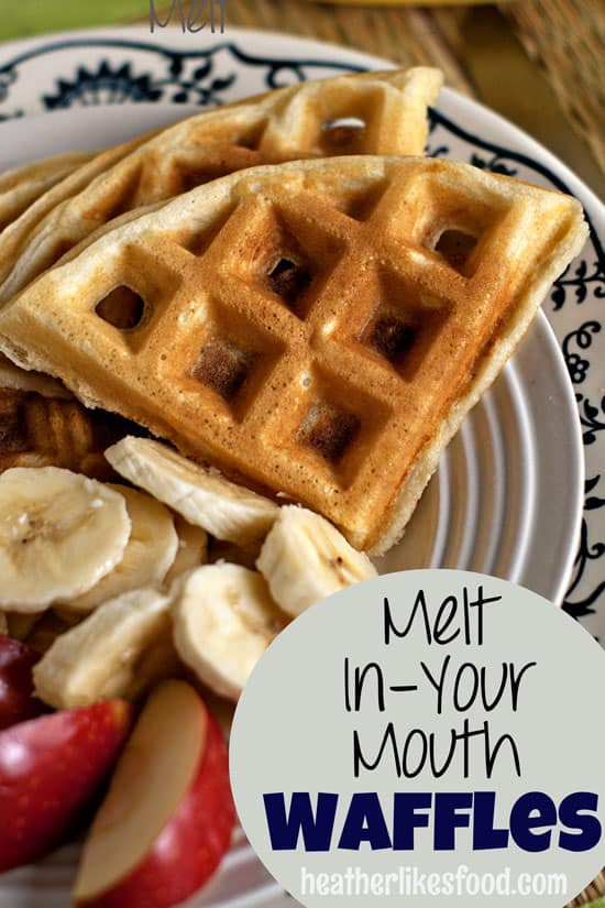 Melt In Your Mouth Waffles   heatherlikesfood.com