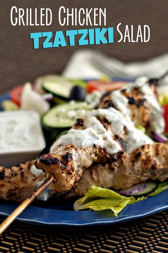 Grilled Chicken Tzatziki Salad | heatherlikesfood.com
