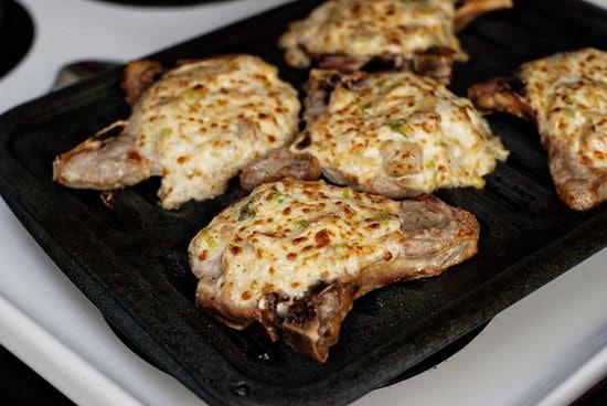 Parmesan Artichoke Pork Chops | heatherlikesfood.com