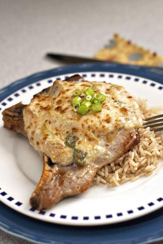 Parmesan Artichoke Pork Chops