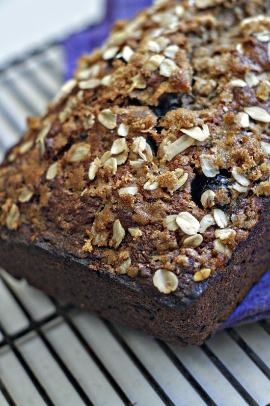 This Whole Wheat Banana Blueberry Bread is just lightly sweet, tender ...