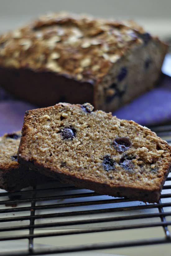 Whole Wheat Blueberry Banana Bread | heatherlikesfood.com