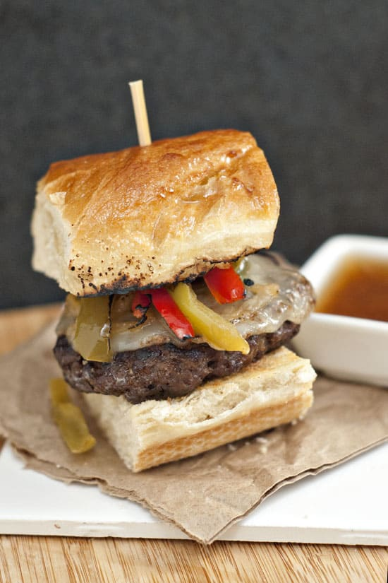 Loaded French Dip Burgers