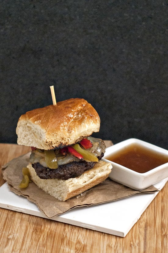 Loaded French Dip Burgers | heatherlikesfood.com