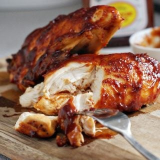 Super Moist Oven Baked BBQ Chicken | heatherlikesfood.com
