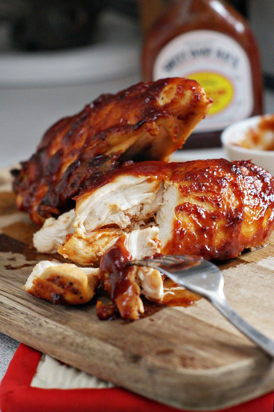 With you barbeque baked chicken breast for that