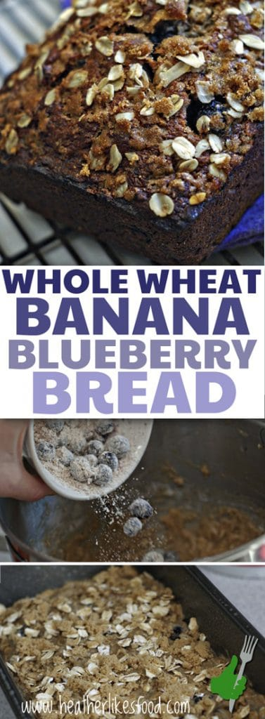 Whole Wheat Banana Blueberry Bread