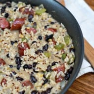 Cheesey Sausage and Rice Skillet and GIVEAWAY!